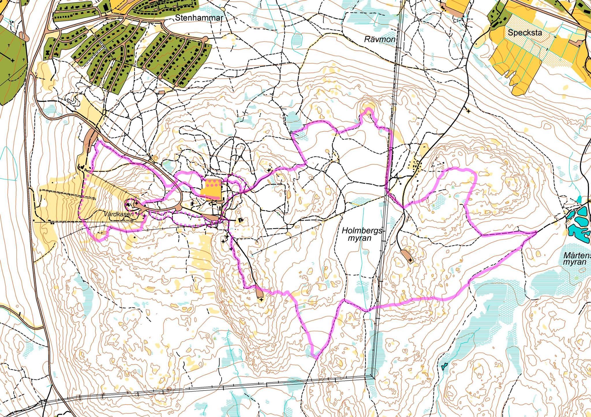 Härnö Trail Kort ny bansträckning 2017